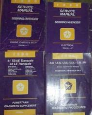 1996 Chrysler Sebring & Dodge Avenger Shop Repair Service Manual Set W POWERTRAI
