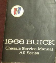 1966 GM Buick All Models Chassis Service Shop Repair Workshop Manual Brand New