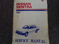 1987 Nissan Sentra Service Repair Shop Workshop Manual Factory OEM Book 87 x