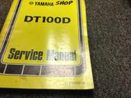 1977 YAMAHA DT100D DT 100 D Shop Service Repair Manual OEM BOOK 77 WATER DAMAGED