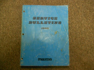 1990 MAZDA ALL MODELS Service Bulletins Shop Manual FACTORY OEM BOOK 90