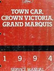 1994 Ford Crown Victoria & Mercury Grand Marquis Service Shop Repair Manual Set
