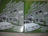 1987 Oldsmobile Calais Service Shop Repair Manual Set x