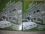 1987 Oldsmobile Firenza Service Shop Manual Set FACTORY x