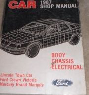 1987 LINCOLN TOWN CAR Service Shop Repair Manual BODY CHASSIS ELECTRICAL OEM