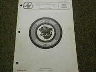 1973 Arctic Cat Formula II Illustrated Service Parts Catalog Manual FACTORY X