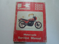 1979 1982 Kawasaki KZ400 KZ500 KZ550 Service Manual WATER DAMAGED WORN OEM DEAL