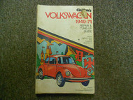 1949 1971 VW Beetle Bus Fast Square Back Karmann Ghia Repair Tune Up Manual