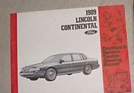1989 Lincoln Continental ELECTRICAL & VACUUM TROUBLESHOOTING WIRING Shop Manual