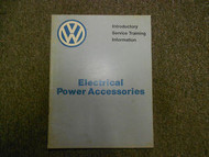 1983 VW Electrical Power Accessories Introductory Service Information Manual 83
