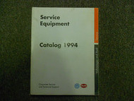 1994 VW Service Equipment Catalog Shop Manual FACTORY OEM BOOK 94 DEALERSHIP