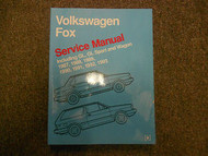 1987 1988 1989 1993 VW Fox GL GL Sport Wagon Service Repair Shop Manual X