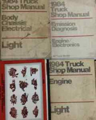 1984 Ford F-150 F150 250 350 F350 Bronco Truck Service Shop Repair Manual Set 4