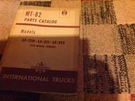 International TRUCKS IHC MT-82 MT82 Parts Catalog Manual LF210 LF211 LF212 OEM