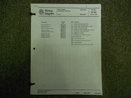 1983 1989 VW Cabriolet Power Antenna Main Wiring Diagram Service Manual OEM 89