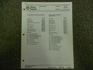 1985 1988 VW Quantum Cruise Control Wiring Diagram Service Manual FACTORY OEM 88