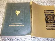 1991 Cadillac Eldorado Seville Service Shop Repair Manual SET W PRODUCT PUBLICAT