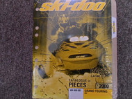2000 Ski Doo Grand Touring 600 Parts Accessories Catalog Manual Factory OEM Book