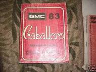 1983 GMC CABALLERO TRUCK Service Shop Repair Manual OEM FACTORY BOOK DEALERSHIP