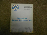 1983 VW Electrical Power Accessories Service Information Manual WATER DAMAGE