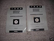 1999 CHRYSLER SEBRING Service Shop Repair Manual Set FACTORY 99 DEALERSHIP OEM