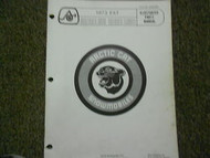1973 Arctic Cat EXT Illustrated Service Parts Catalog Manual FACTORY OEM BOOK x
