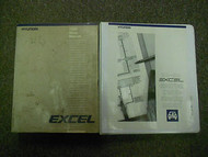 1990 HYUNDAI EXCEL Service Repair Shop Manual 2 VOL SET FACTORY OEM BOOK 90 DEAL