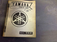 1970 71 YAMAHA Model CS3C PARTS LIST CATALOG Manual OEM RARE FACTORY DEALERSHIP