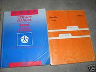 1993 JEEP GRAND CHEROKEE Service Shop Repair Manual Set W RECALLS MANUAL OEM 93