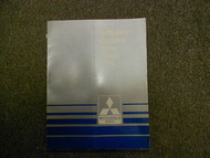 1986 MITSUBISHI Galant Electrical Wiring Service Shop Manual FACTORY OEM BOOK 86