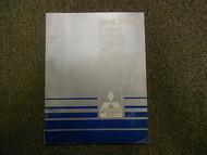 1987 MITSUBISHI Galant 4 Speed Automatic Transaxle Test Procedure Service Manual