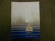 1988 MITSUBISHI Galant Service Repair Shop Manual Volume 1 Engine Chassis Body