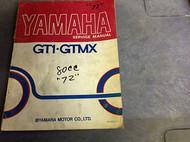 1971 1972 1973 YAMAHA GT1 GT 1 GMX Shop Service Repair Manual OEM DAMAGED RARE