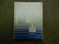 1989 MITSUBISHI Sigma V6 Service Shop Manual Volume 1 Engine Chassis Body OEM 89