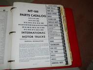 International TRUCKS IHC MT-102 MT102 MOTOR TRUCK Parts Catalog Manual OEM RARE