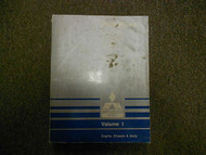 1990 MITSUBISHI Sigma V6 VOL 1 Engine Chassis Body Service Repair Shop Manual 90