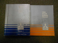 1990 MITSUBISHI Truck Service Repair Shop Manual 2 Volume SET WATER DAMAGED