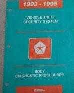 1993 1994 1995 JEEP WRANGLER CHEROKEE Theft Security System DIAG Body Manual