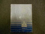 1989 1990 MITSUBISHI Galant Service Shop Manual VOL 2 Electrical FACTORY OEM 90