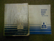 1991 MITSUBISHI Mirage Service Repair Shop Manual 2 VOL SET FACTORY OEM BOOK 91