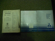1991 MITSUBISHI Mirage Service Repair Shop Manual FACTORY OEM BOOK 91 3 VOL SET