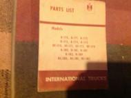 International TRUCKS Harvester Parts List Manual MT-67 MT 67 MT-68 MT 77 MT-80