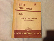 International TRUCKS IHC MT81 MT-81 Harvester Parts Catalog Manual 6 Wheel OEM
