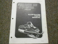 1978 Arctic Cat Pantera Illustrated Service Parts Catalog Manual FACTORY OEM x