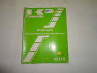 1982 Kawasaki KX125 Owners Manual & Service Manual WORN WRITING ON COVER OEM