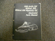 1990 Arctic Cat Wildcat 650 Mountain Cat Illustrated Parts Service Repair Manual