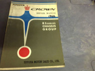 1965 TOYOTA CROWN RS SERIES CHASSIS GROUP Service Shop Repair Manual OEM 65 RARE