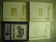 1980 Oldsmobile OLDS ALL MODELS Service Shop Repair Manual SET W BODY + LOTS OEM