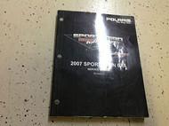 2007 POLARIS SPORTSMAN 6X6 Shop Repair Service Manual PN 9920778 FACTORY 2007