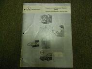 1984 1989 MERCEDES Supplemental Restraint System SRS Service Repair Shop Manual